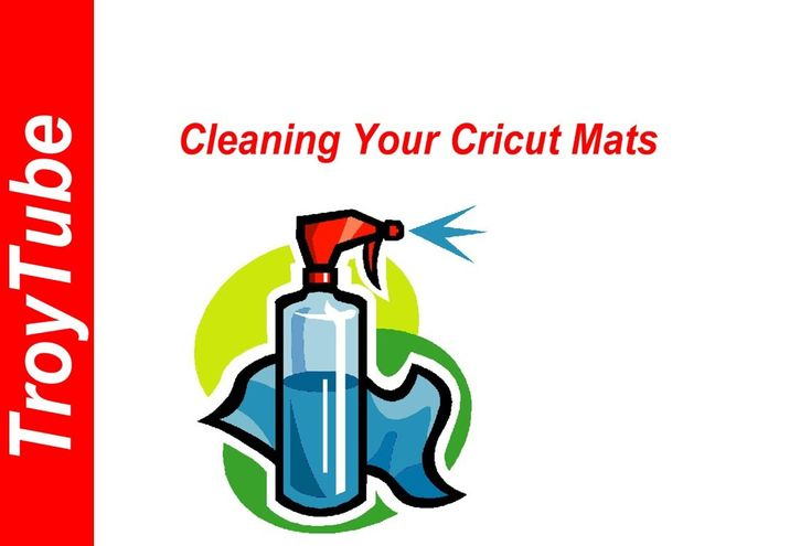 cricut how to clean mat