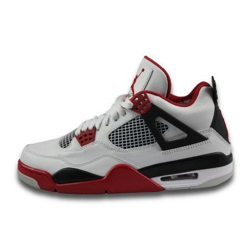 Mens Nike Air Jordan Retro 4 Basketball Shoes Whi ($290)