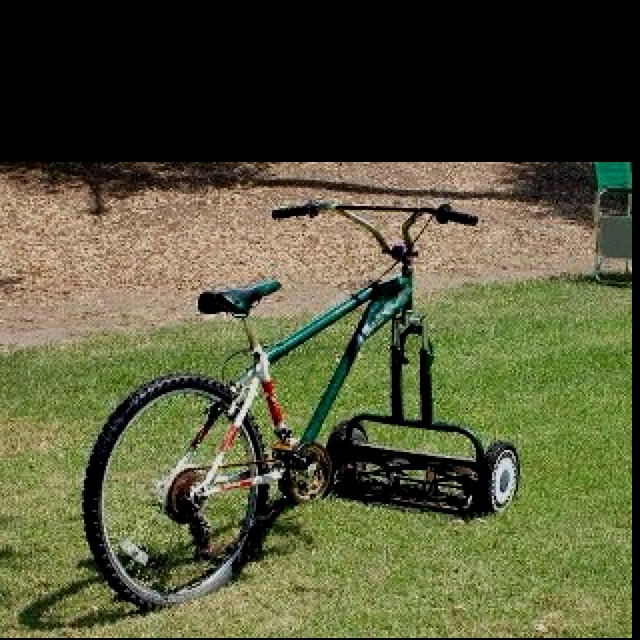 Now that's a good idea!Bicycles, Good Ideas, Bikes, Great Workouts, Redneck, Too Funny, Environmental Friends, Lawns Mower, Yards