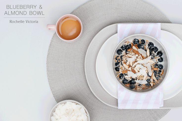 Raw Organic Blueberry & Almond Bowl Breakfast Recipe | Rochelle Victoria Blog