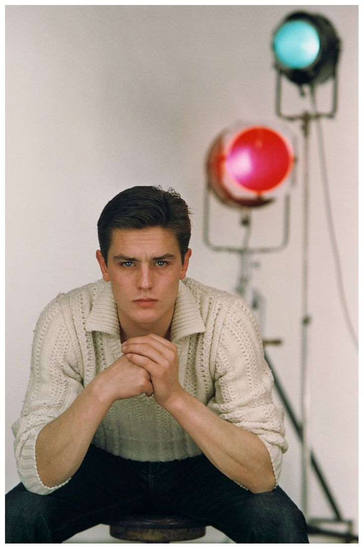Alain Delon, 1959 first posted by the60sbazaar                                                                                                                                                                                 More