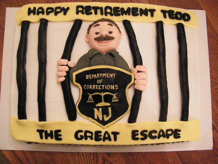correction officer retirement party Retirement cake for