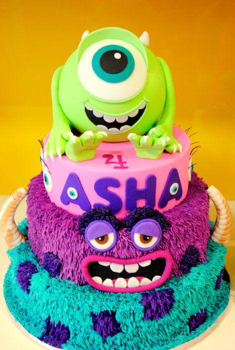 Monsters Inc - Monsters University Cake - by Amelia's Cakes @ CakesDecor.com - cake decorating website