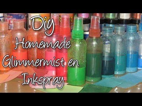 Hoe maak je zelf Spray inkt en Glimmer mists voor te knutselen, DIY - YouTube. XENOS: voedselkleurstof. ACTION: geurverfrisserflesjes (0,79) en oogschaduw.