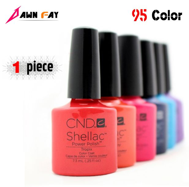 New Arrival 95 Color CND Shellac Primer Nail UV Top Base coat Off LED UV Gel Polish For Nail Gel Varnish Design Nail 7.3ml