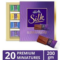 Amazon shopping deal: Cadbury Miniatures Collection Dairy Milk Silk, 200g at Rs 414 only