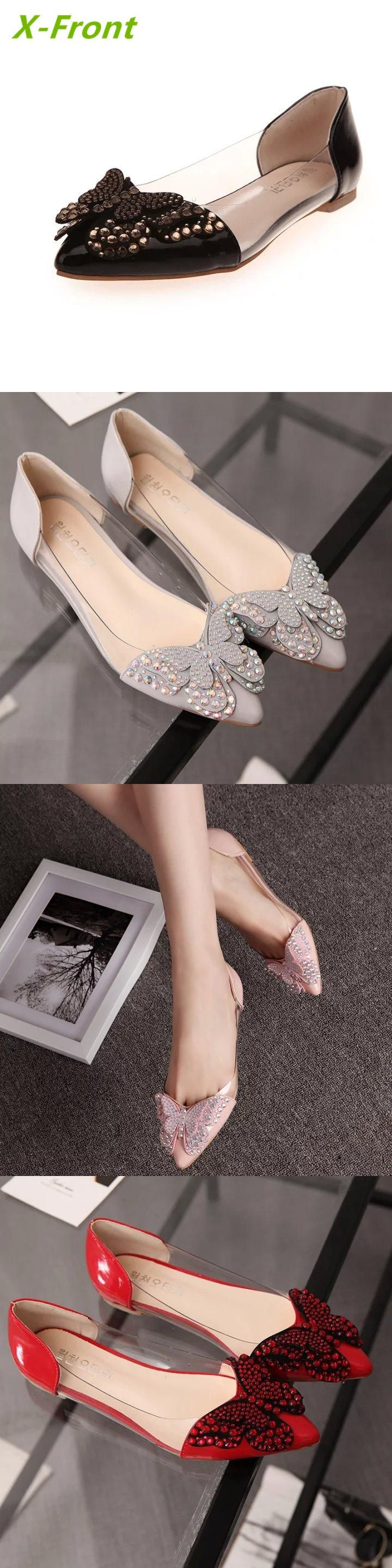 New flat sole shallow mouth single shoes, Europe and America, hollowed-out personality rivets, fashion cross straps, women's shoes