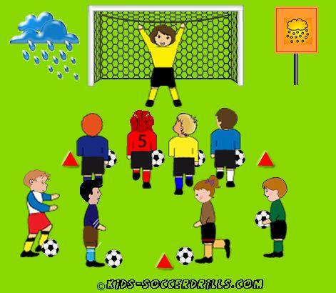 Goalshot - Hailstorm - Kids Soccer - Soccer drills for kids from U5 to U10 - Soccer coaching with fantasy