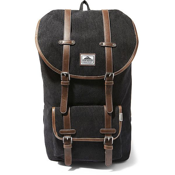 Steve Madden MM-590BK Backpack (1.205 ARS) ❤ liked on Polyvore featuring men's fashion, men's bags, men's backpacks, black and mens one strap backpack