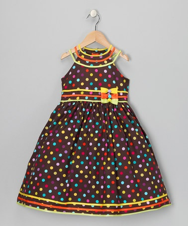 Take a look at this Rainbow Polka Dot Dress - Toddler & Girls by Pretty Me…