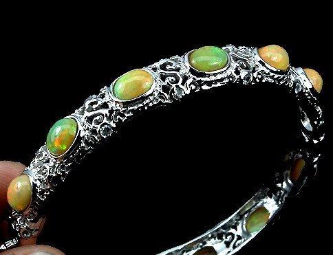 Art deco Bracelet   14 K white gold  over by 911VintageAddiction