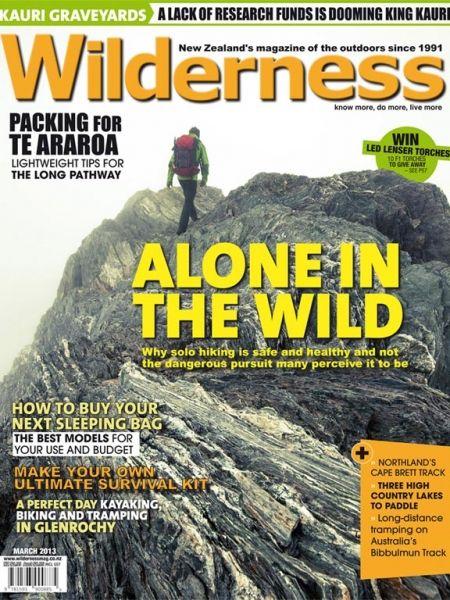 Cover shot: Wilderness magazine March 2013. Self portrait shot by Mark Watson // Highluxphoto