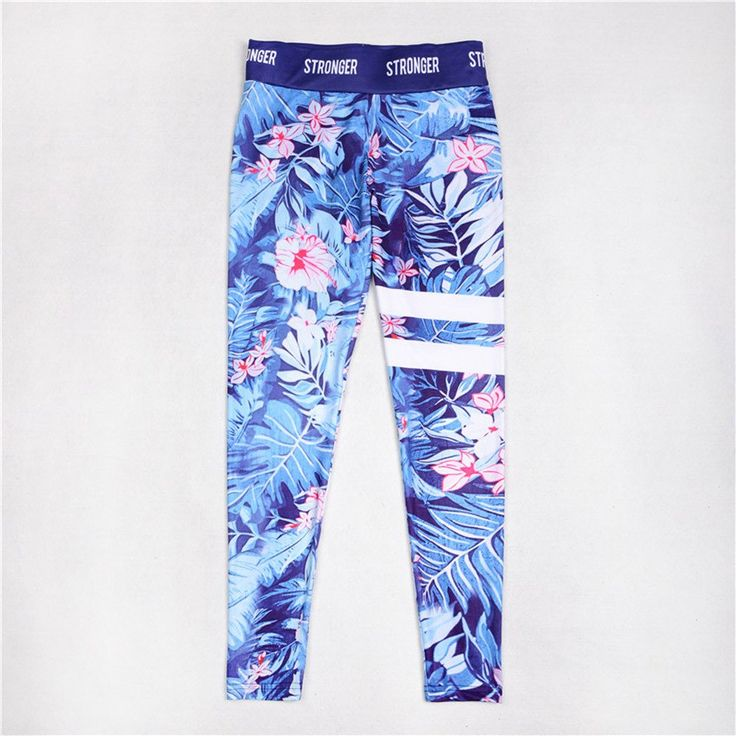 Blue Floral Striped Leggings  Floral Yoga Leggings and Yoga Pants for Women  https://loveyogaworld.com/collections/yoga-clothes-mesh-leggings/products/blue-floral-striped-leggings