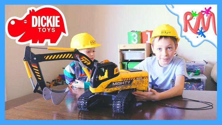 Экскаватор на пульте управления Dickie Mighty Excavator Копаем игрушечны...