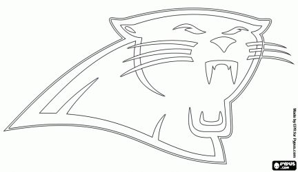 Carolina Panthers Stencil | Carolina Panthers logo, american football team in the NFC South ...