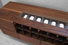 Crave Worthy: Modern Cellar Skylight Wine Credenza