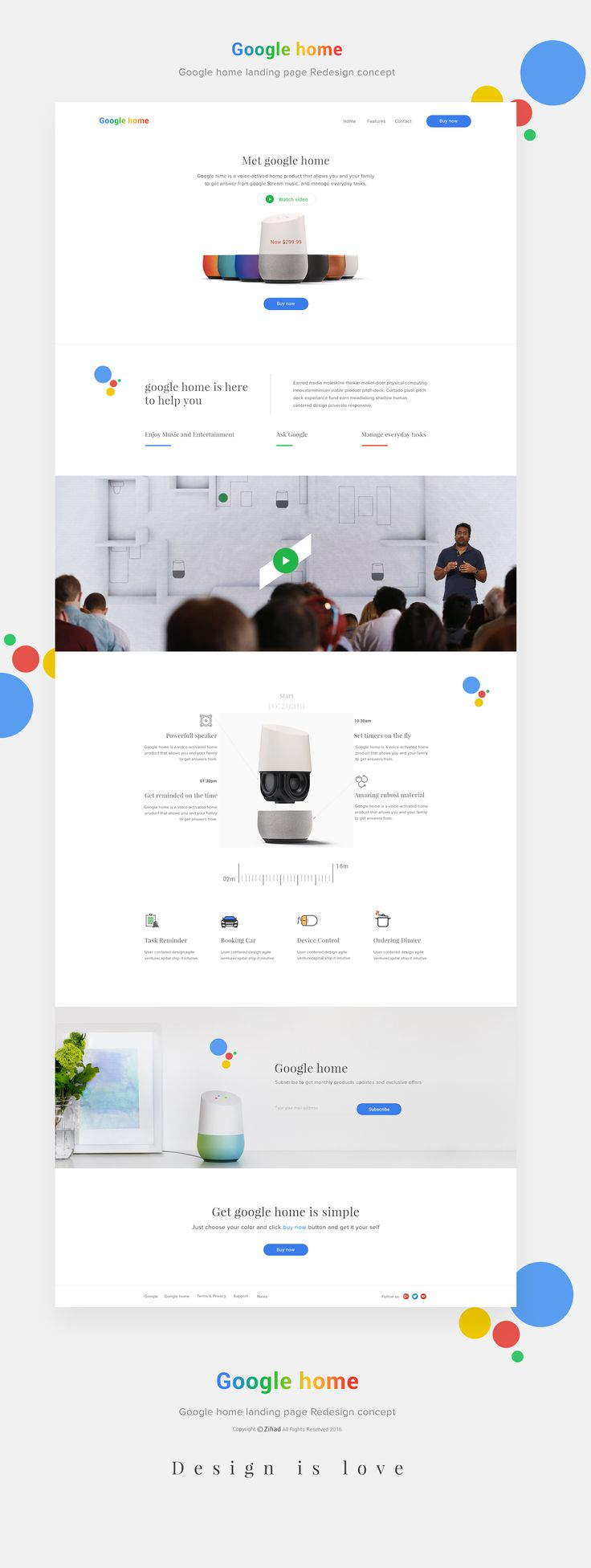 google home page design. google home landing page full view design g