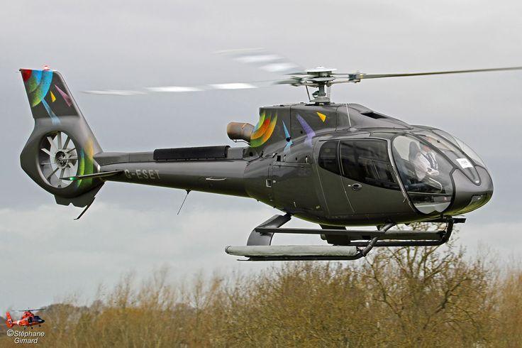 AIRBUS HELICOPTERS EC130 B4 G-ESET helicopter, Photo : Stéphane Gimard, Cheltenham 2017