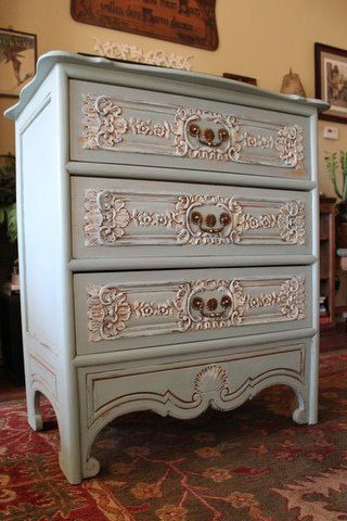 Antique Painted Dresser. $375.00, via Etsy.