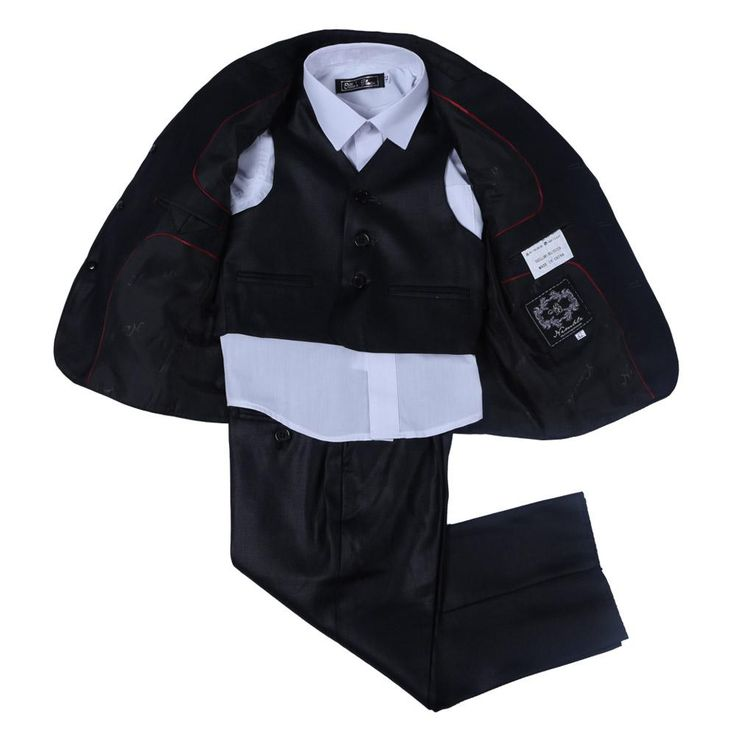 new fashion black solid boys suits set for wedding blazers formal children's clothing