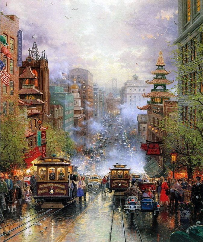 Artist is Thomas Kinkade. Love anything by him
