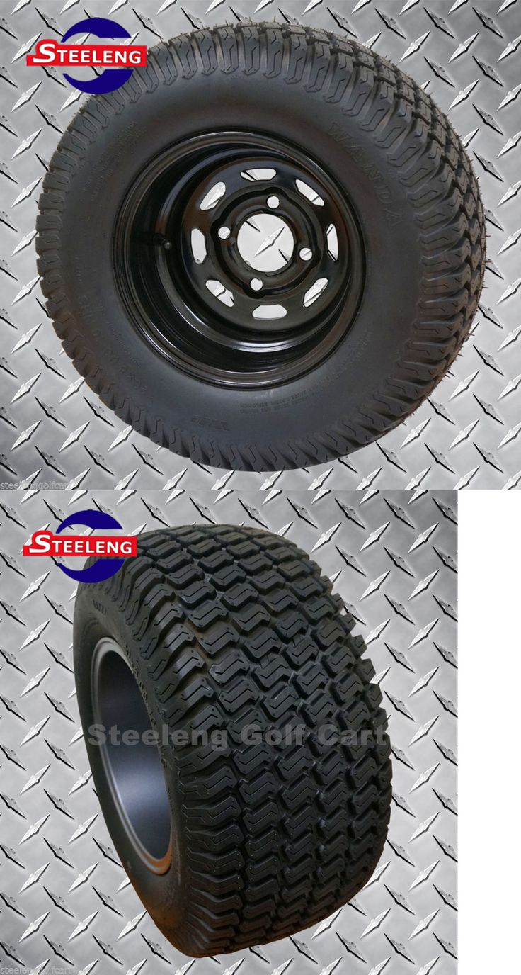 Other Outdoor Sports 159048: Golf Cart 10X7 Black Steel Wheels And 20 Street/Turf Tires (Set Of 4) -> BUY IT NOW ONLY: $299.0 on eBay!
