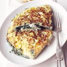 Hoofdgerecht voor 3 personen.  Bereidingstijd: 25 minuten    Ingrediënten    6 eieren  75 gram gerookte ontbijtspek, in plakjes  150 gram ...