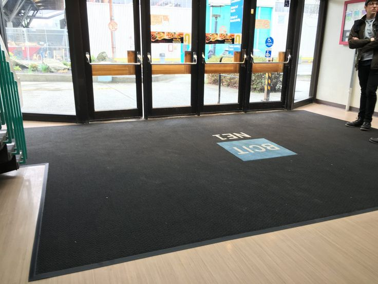 Our Viper 8900 custom inlaid logo mat installed at BCIT Burnaby campus.