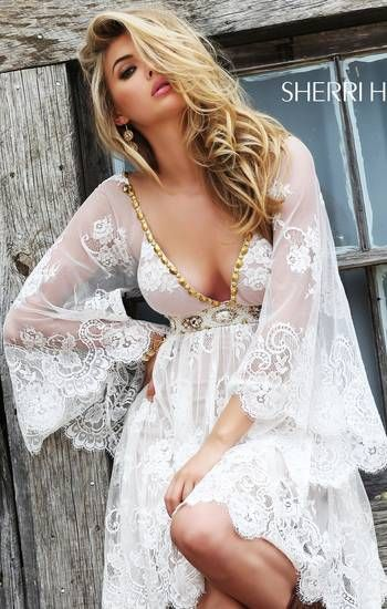 Sherri Hill 2015 Collection- Sexy Country Lace Dress -8192