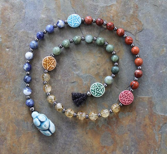 "Elements:  #Elements ~ ""The Old Ways"" Pagan Prayer Beads for Meditation, by IndigoDesertMoon."