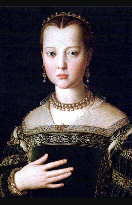 Maria de'Medici di Bronzino, 1551, conservata alla Galleria degli Uffizi di Firenze