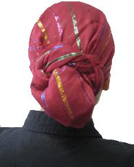 how to tie a tiechel head scarf. i can see this being great on a bad-hair day or maybe with a lightweight wool just for warmth without hat hair.