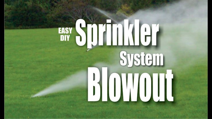 DIY Easy Sprinkler blowout winterization