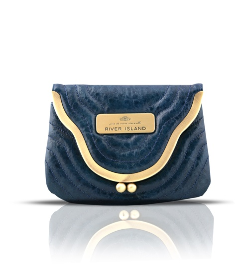 River Island Blue Purse on glamouronthego.co.uk