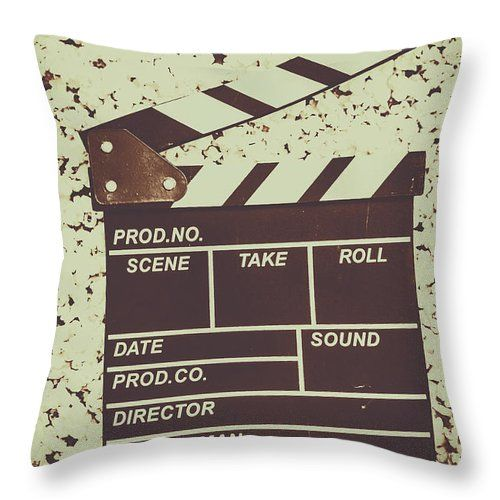 Home Theatre Throw Pillow featuring the photograph A Take From Old Hollywood by Jorgo Photography - Wall Art Gallery