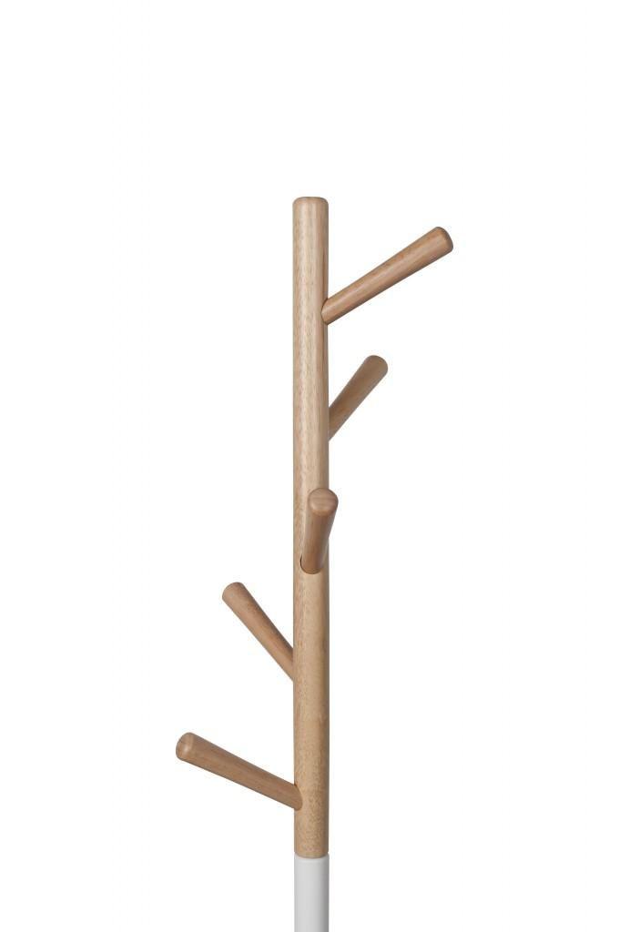 Design Kleiderständer TABLE TREE Holz Natur Und Weiß Von Zuiver Bild 4