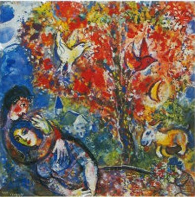 "marc chagall prints | Marc CHAGALL, "" The Enamoured """