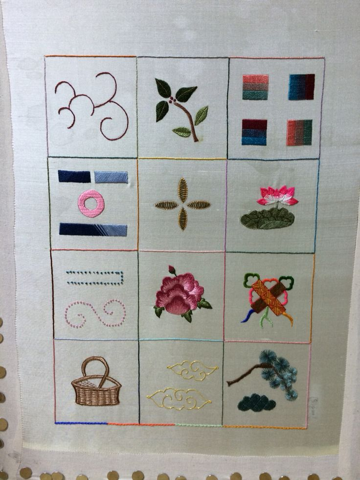 전통자수(Korean embroidery) 기초수업 끝!  2015.02
