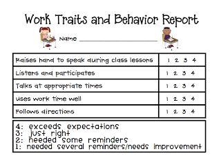 Sarah's First Grade Snippets: Individual Behavior Chart Freebies