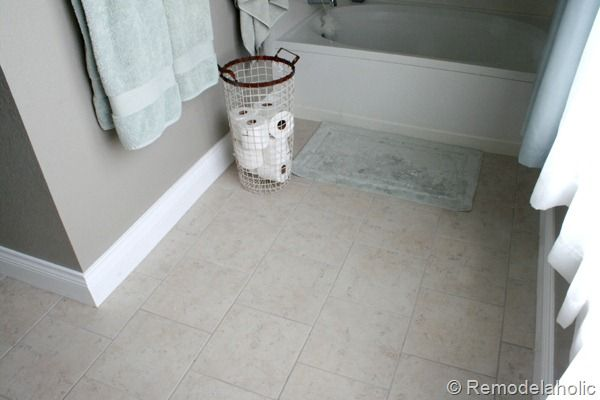 Briton Bone Daltile From Home Depot only $1.38 per square foot. This would be great for the 1/2 bath and laundry room.Tile Bathrooms, Downstairs Bathroom, Toilets Paper, Master Bathrooms, Briton Bones, Bathroom Floors, Daltile Briton, Gray Wall, Laundry Room