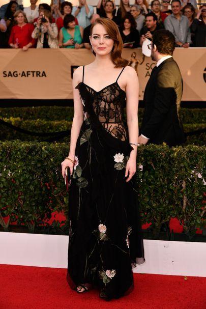 Emma Stone | SAG Awards 2017 red carpet fashion pictures | British Vogue