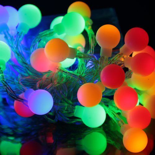 EiioX Muti-color RGB Color Changing 4m/13ft 40 Round Ball LED Lights Fairy Lights string for Christmas XMAX Tree, Partys, Weddings, Family, Festival by EiioX. $9.55. This product is combined with some great ideas on their use - here are just a  few that may help you - wedding bouquets, vase with glass beads, floral  displays, garlands and wreaths, bay trees, arches, mantelpiece, windows,  children's nightlight, and even as a clothing accessory. Feature: These very bright LED...