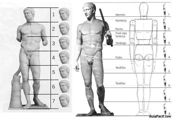 - Anatomía y proporción de la figura humana - 1. El canon en la figura humana La anatomía artística es un área que pretende estudiar y analizar las estructuras del cuerpo que son responsables del aspecto y la forma de la figura humana. E