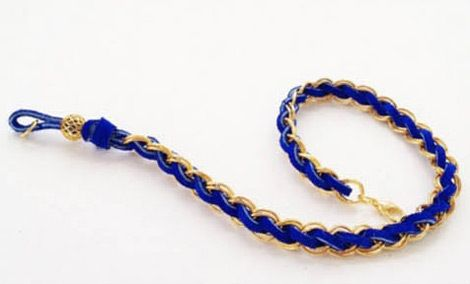 How To Make Chain Bracelets With Suede Cords