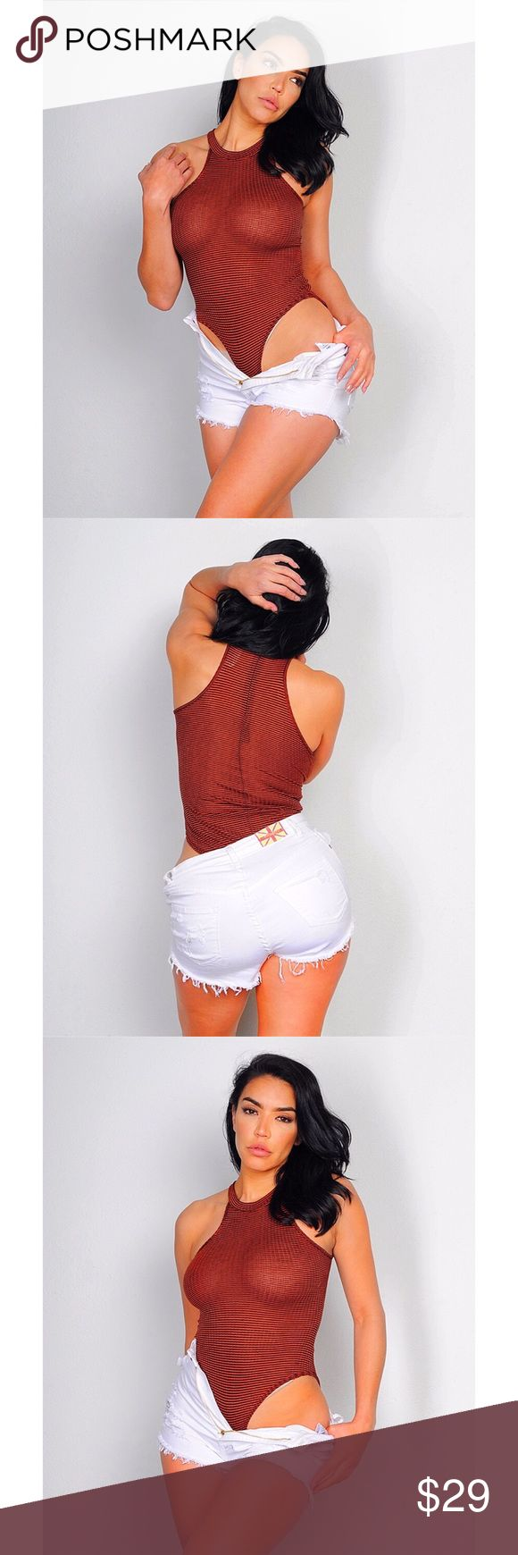 Rust BodySuit Rust BodySuit  68% Polyester 27% Rayon 5% Spandex Made in USA Tops Blouses