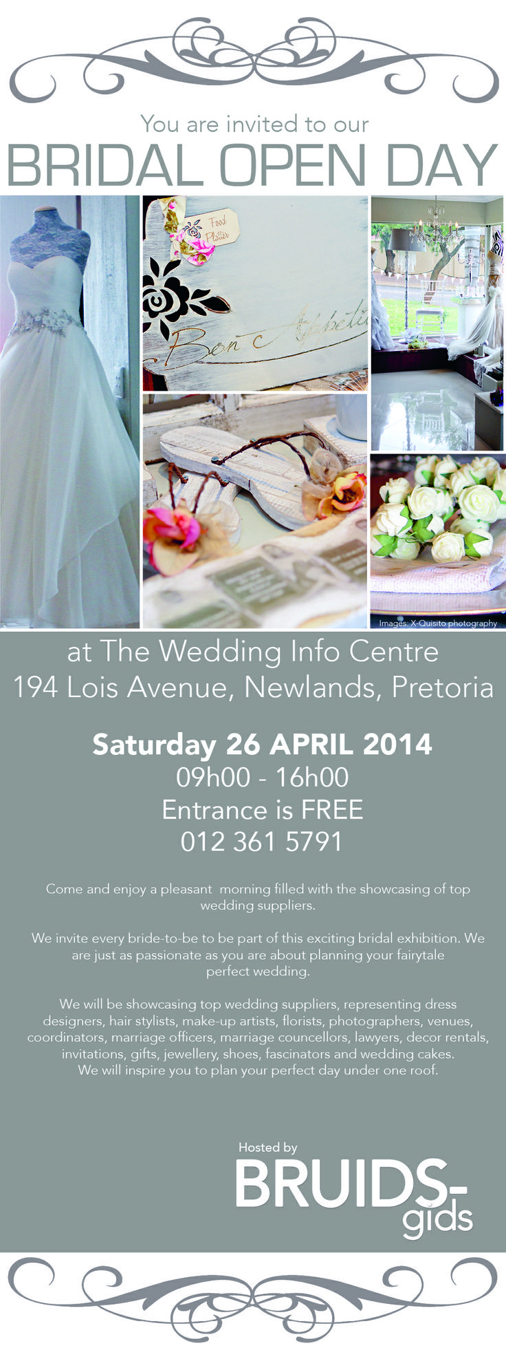 Visit our FREE Bridal Expo on 26 April 2014