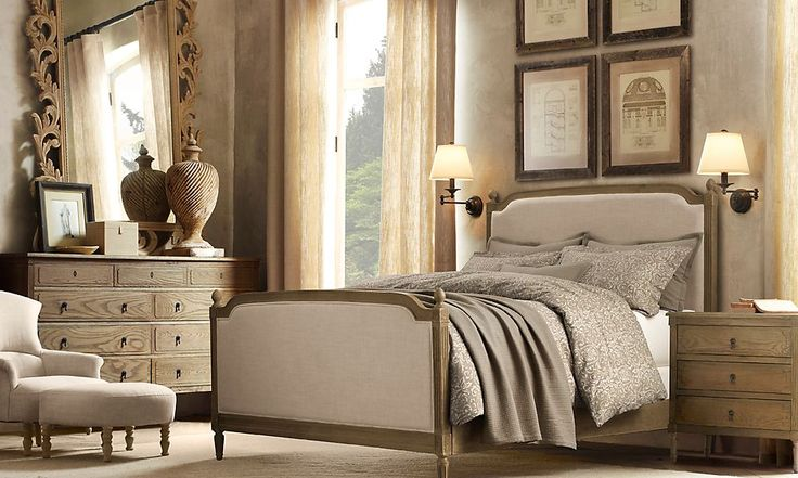 Restoration hardware vienne bed vienne panel queen bed - Restoration hardware bedroom furniture ...