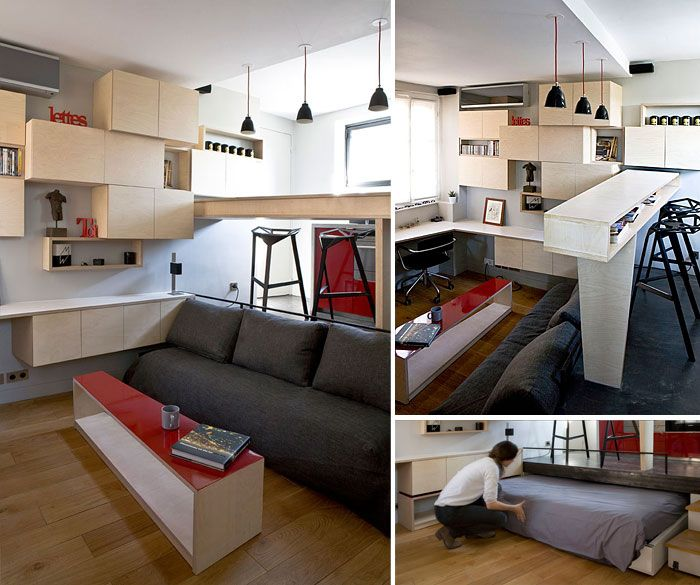 Parisian Mini Apartment For More Interior Design Inspo Follow Little Apartm Small Apartment Interior Small Studio Apartment Design Apartment Design