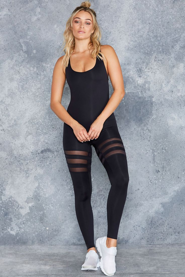 Sporty Stripes Heroine Catsuit - LIMITED ($135AUD) by BlackMilk Clothing
