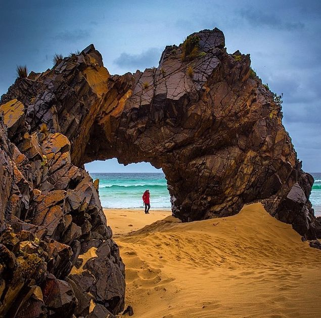 Natural Rock Arch on Bruny Island The Absolute BEST Things to do in Tasmania (top 50)